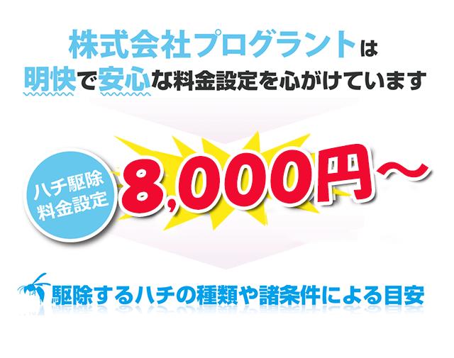 株式会社プログラントは明快で安心な料金設定を心がけています。8000円~
