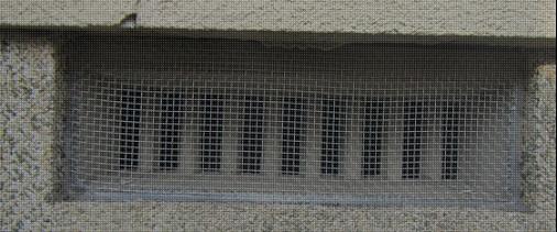侵入口を封鎖した写真