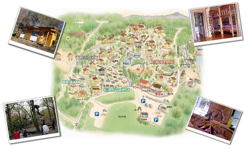 市房山キャンプ場 map
