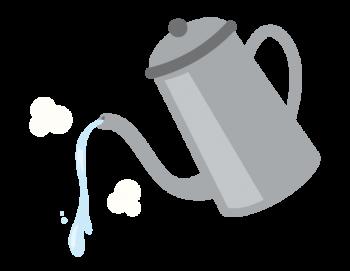 熱湯をムカデにかける