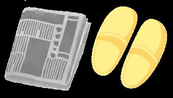 スリッパと新聞紙